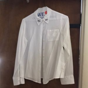 Girls Justice White button shirt size 12
